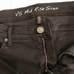VS Mid Rise Siren Black Jeans 8